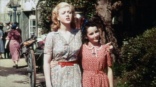Angela Lansbury and Elizabeth Taylor in National Velvet, 1944