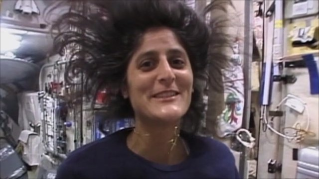 Nasa astronaut Sunita Williams in space