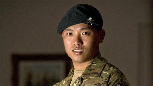 Acting Sergeant Dipprasad Pun of the Royal Gurkha Rifles