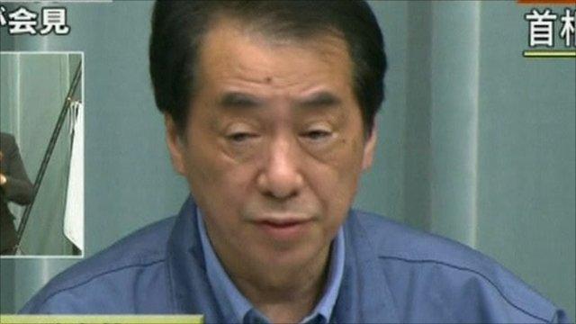Japan prime minister, Naoto Kan