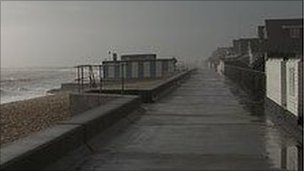 The seafront at Jaywick