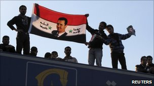 Pro-Assad protest in Damascus, 25 March