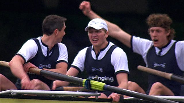 The Oxford crew celebrate their 2011 win