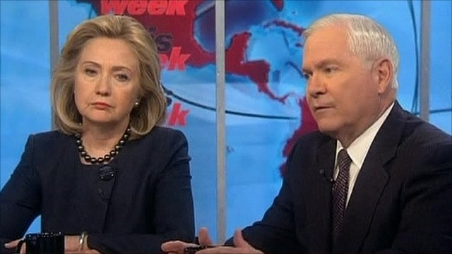 Hilary Clinton and Robert Gates