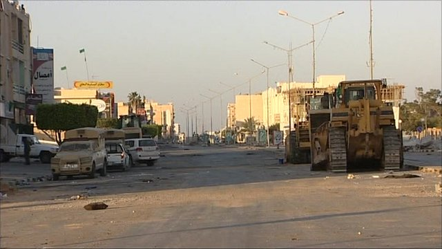 Damage in streets of Misrata