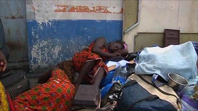 Ivorians take refuge