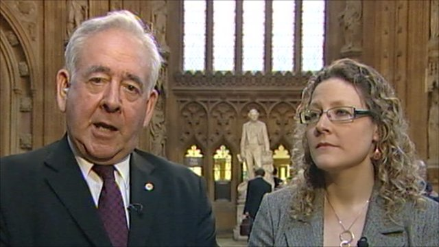 Dafydd Wigley and Jenny Willott