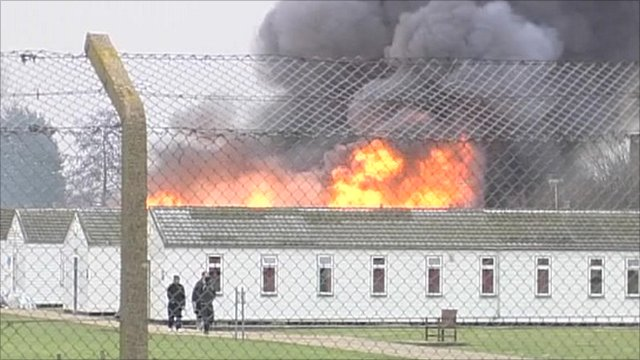 Fire at Ford Prison in West Sussex on New Year's Day