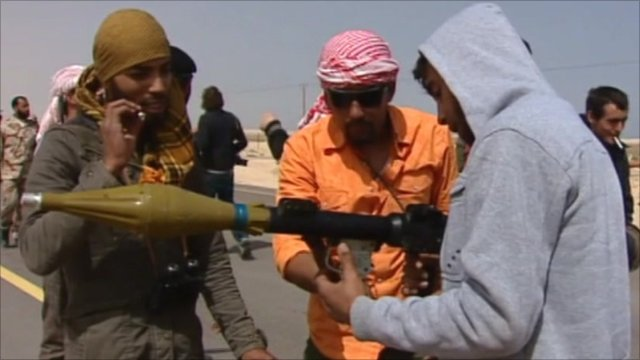 Rebel forces in Libya