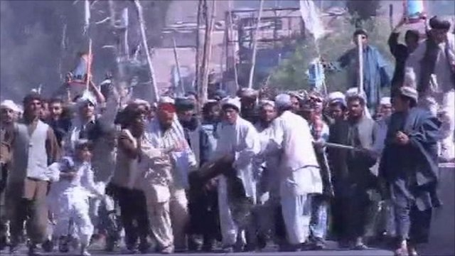 Kandahar protest