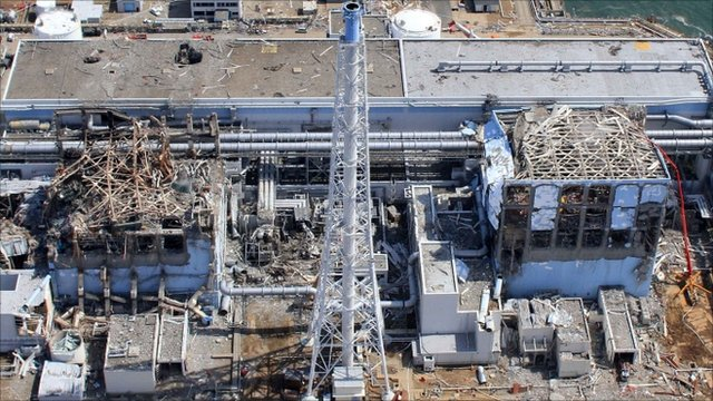 Aerial view of the Fukushima Daiichi Nuclear Power Station