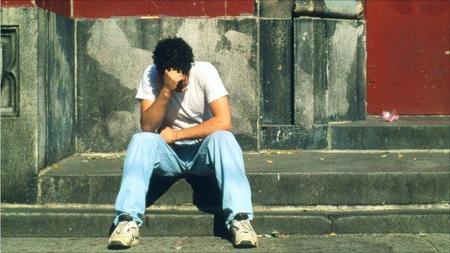 A depressed man