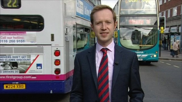 Adam Fleming and buses in Leicester