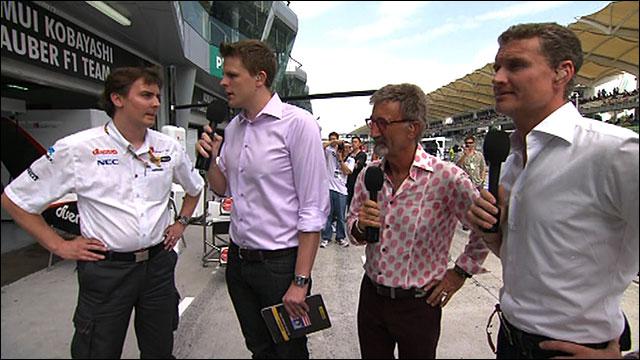 James Key talks to Jake Humphrey, Eddie Jordan and David Coulthard