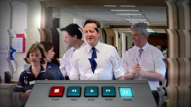 Cameron and Lansley in rewind graphic