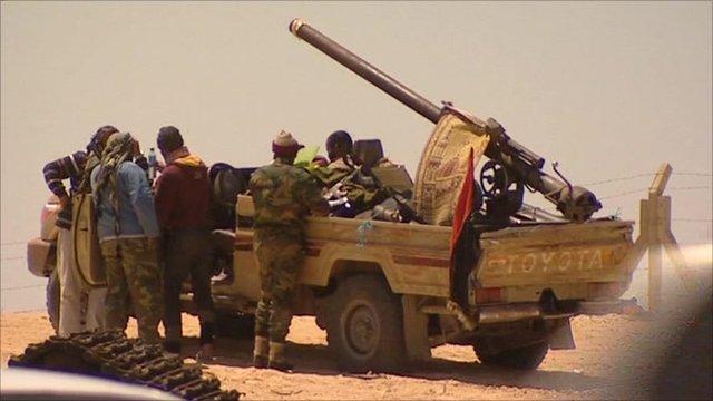 Rebels in Ajdabiya