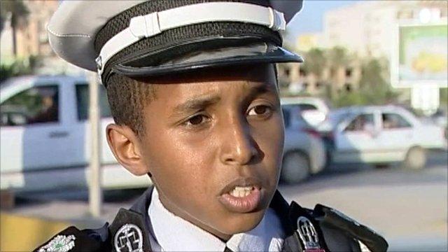 Libya's child traffic cops
