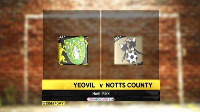 Highlights Yeovil v Notts County