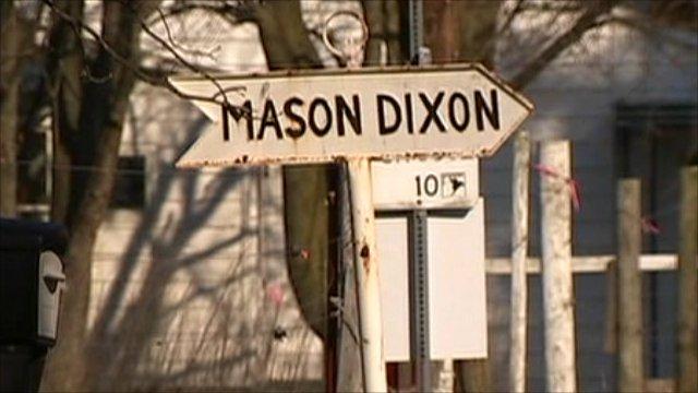 Mason Dixon Line sign