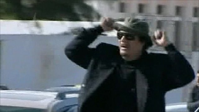 State TV aired footage it says was Col Gaddafi