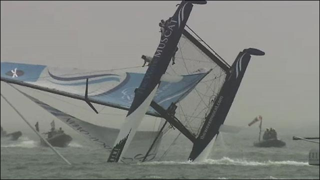 Sailing capsize action in China