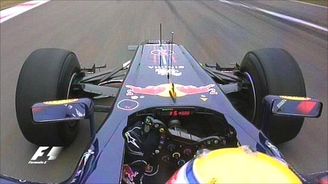 Mark Webber in-car camera