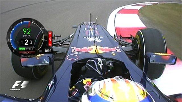 Red Bull's Sebastian Vettel in-car camera