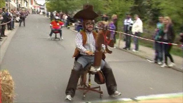 'Cowboy' racer on his chair