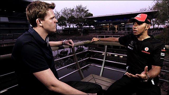 Jake Humphrey and Lewis Hamilton
