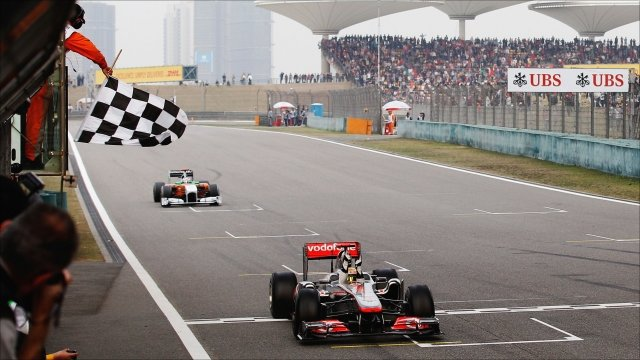 Lewis Hamilton wins the 2011 Chinese Grand Prix