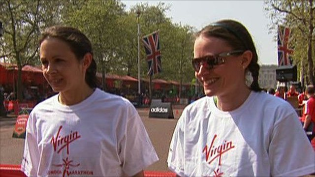 Jo Pavey and Louise Damen