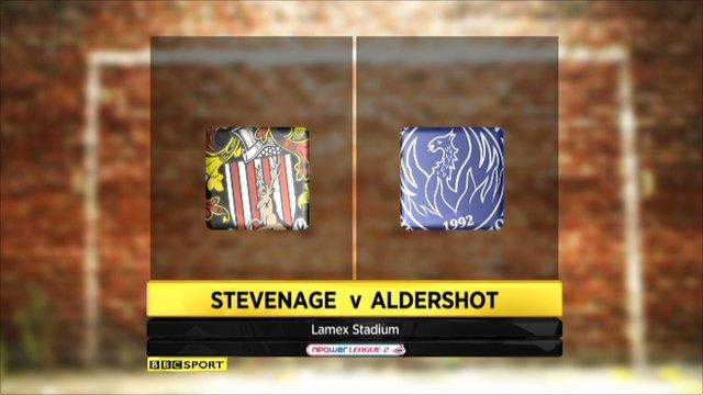 Highlights Stevenage v Aldershot