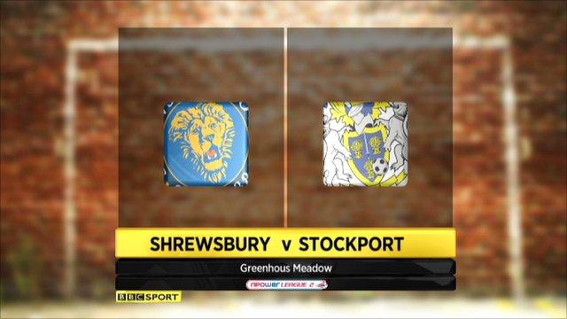 Shrewsbury v Stockport - highlights