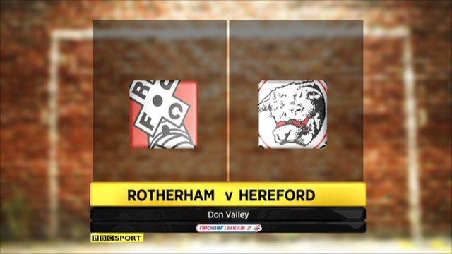 Rotherham v Hereford highlights