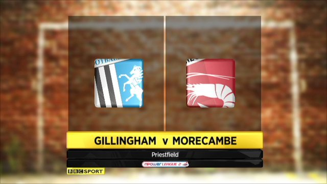 highlights - Gillingham v Morecambe