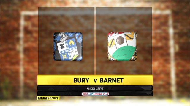 Bury v Barnet highlights