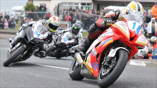 Action from the 2010 NW200