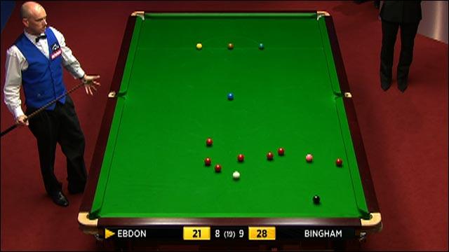 Bingham wins as Crucible kick floors Ebdon