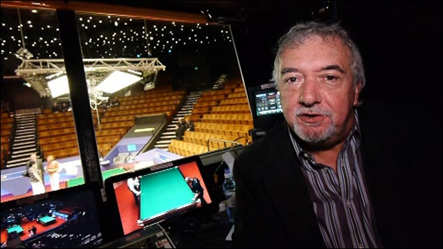 Behind the scenes with John Virgo at the Crucible