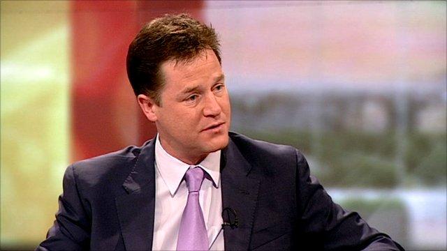Deputy Prime Minister Nick Clegg