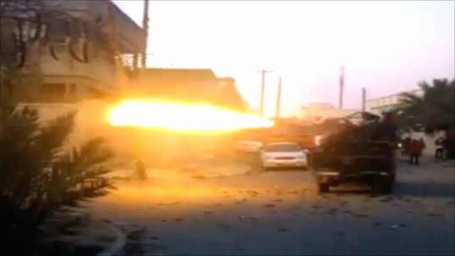 Heavy arms fire in Misrata