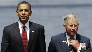 President Obama and Prince Charles (file pic)