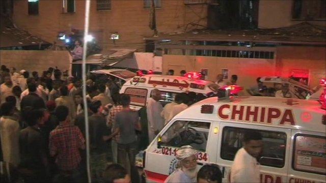 Karachi bomb aftermath