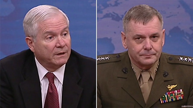 Defence Secretary Robert Gates and General James Cartwright
