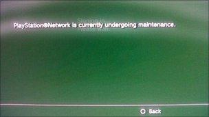 A capture of PlayStation error