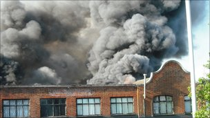 Friday's fire in Walthamstow (photo: Nicola Shelton)