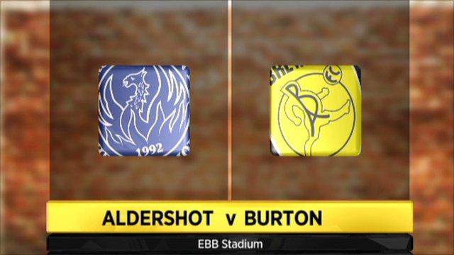 Aldershot 1-2 Burton