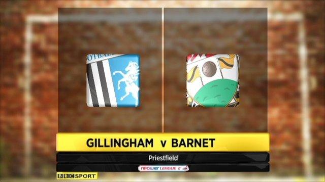 Highlights - Gillingham 2-4 Barnett