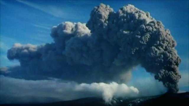 Ash plume from Eyjafjallajokull