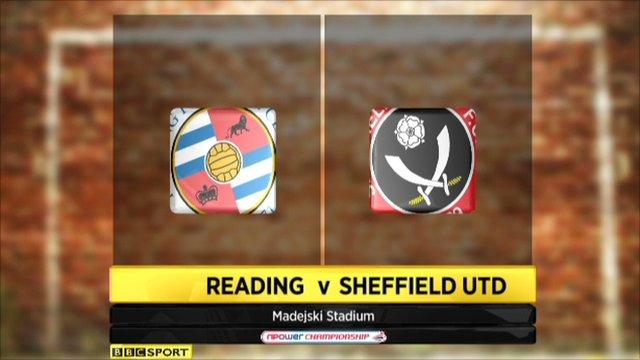 Reading 2-3 Sheffield United